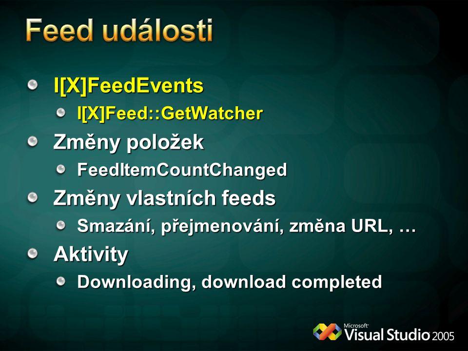 Feed události I[X]FeedEvents Změny položek Změny vlastních feeds
